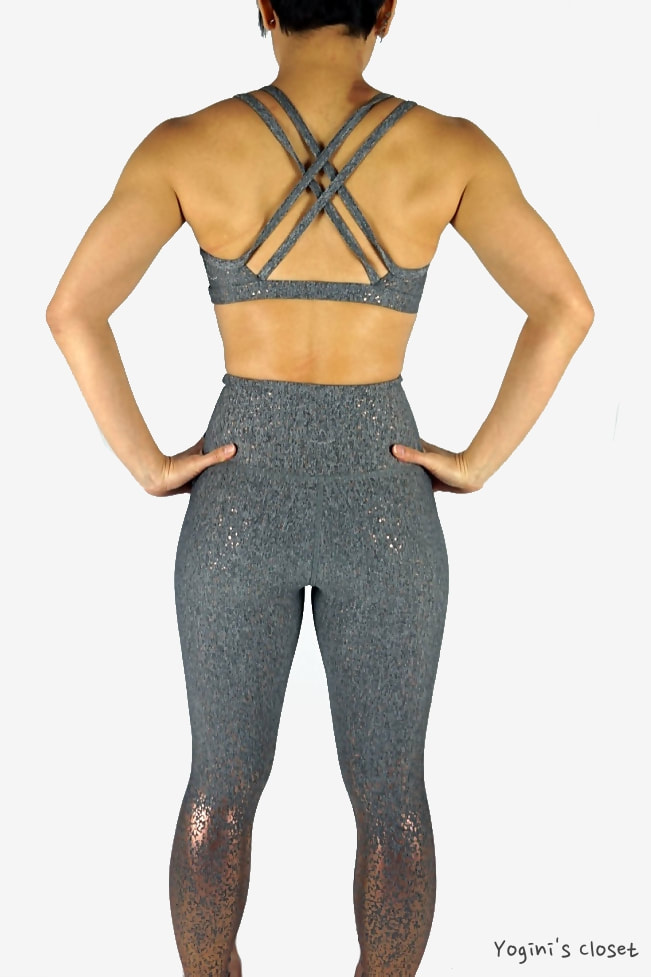 Yoginis Closet Beyond Yoga Alloy Ombre High Waisted Midi Legging Review
