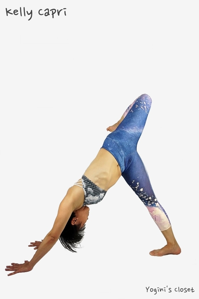 Yoginis closet Rep Active Art capri review, manufactured by Art of Where