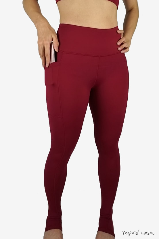 Yoginis Closet Constantly Varied Gear (CVG) Sangria Workout Leggings and Sports Bra