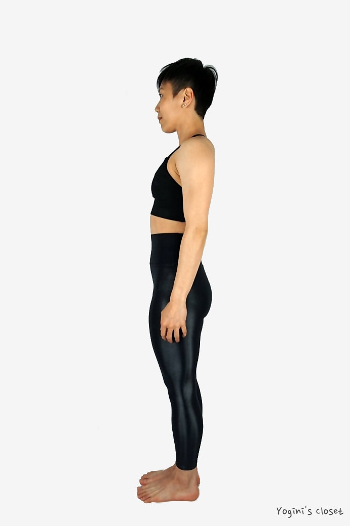 Yoginis Closet Carbon38 High Waisted 7/8 Length Takara Yoga Legging in Black Review